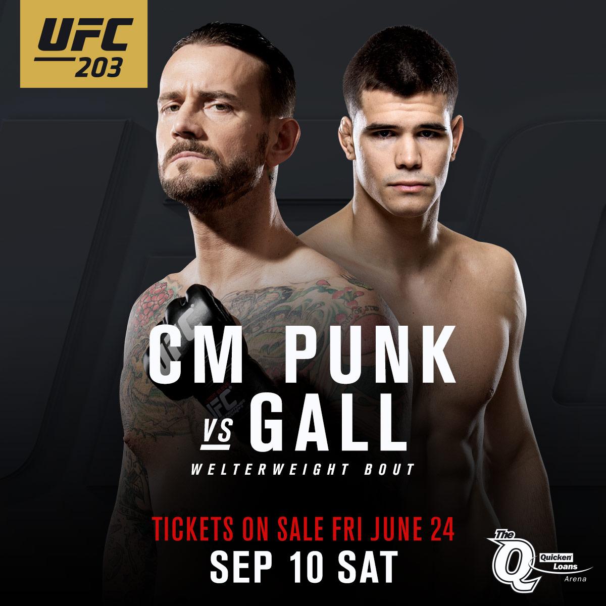 Cm punk vs mickey gall ufc 203 - 2 7