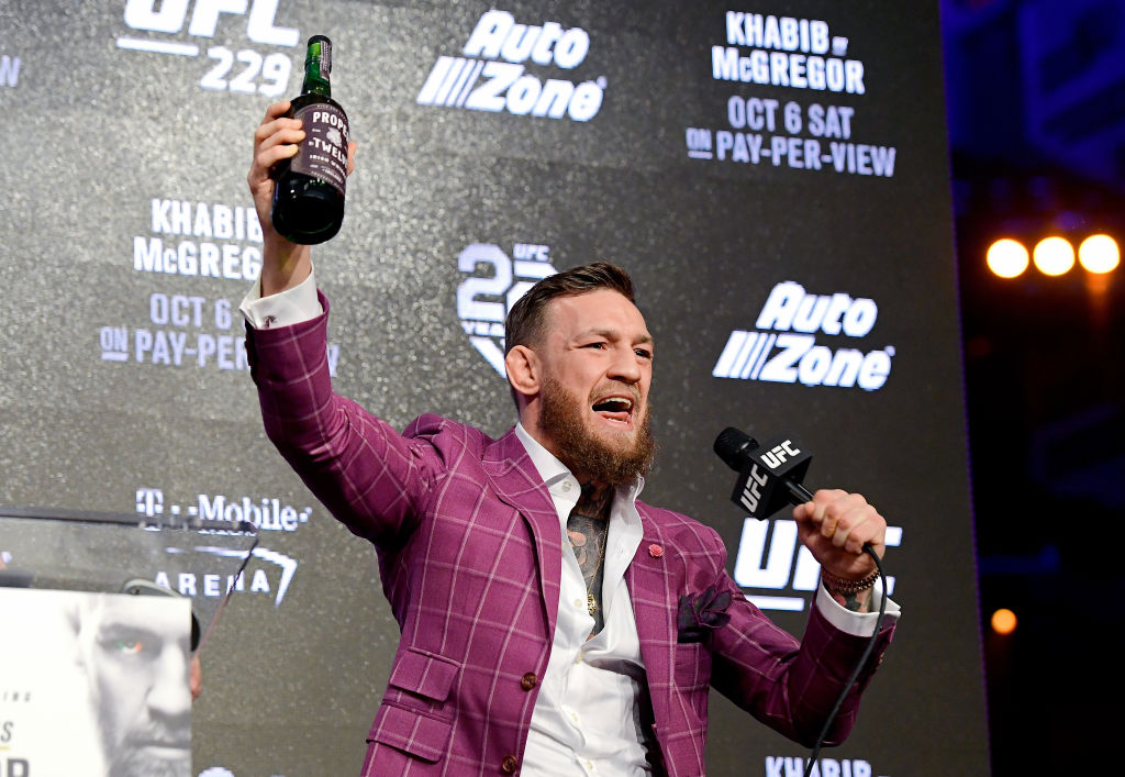NEW YORK, NY - SEPTEMBER 20:  Conor McGregor speaks to the media during the UFC 229 Press Conference at Radio City Music Hall on September 20, 2018 in New York City.  (Photo by Steven Ryan/Getty Images)