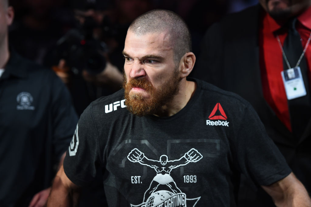 DALLAS, TX - SEPTEMBER 08:  Jim Miller walks to the Octagon prior to his lightweight fight against Alex White during the UFC 228 event at American Airlines Center on September 8, 2018 in Dallas, Texas. (Photo by Josh Hedges/Zuffa LLC/Zuffa LLC via Getty Images)