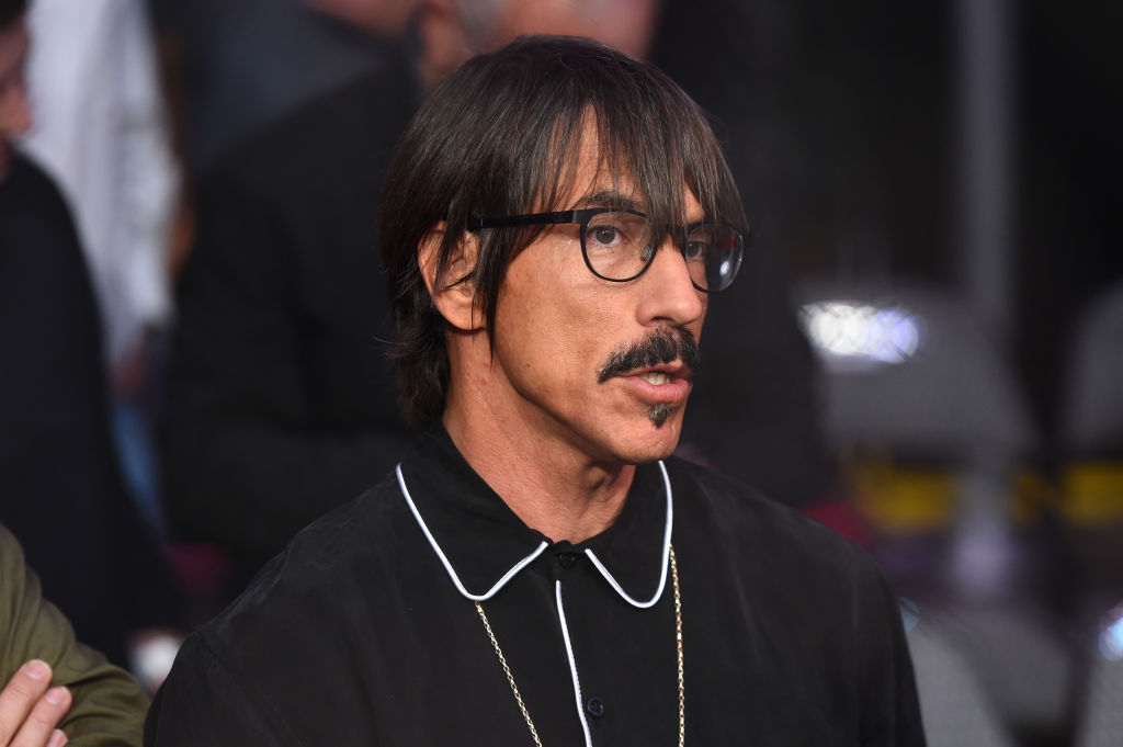 DALLAS, TX - SEPTEMBER 08:  Musician Anthony Kiedis is seen in attendance during the UFC 228 event at American Airlines Center on September 8, 2018 in Dallas, Texas. (Photo by Josh Hedges/Zuffa LLC/Zuffa LLC via Getty Images)