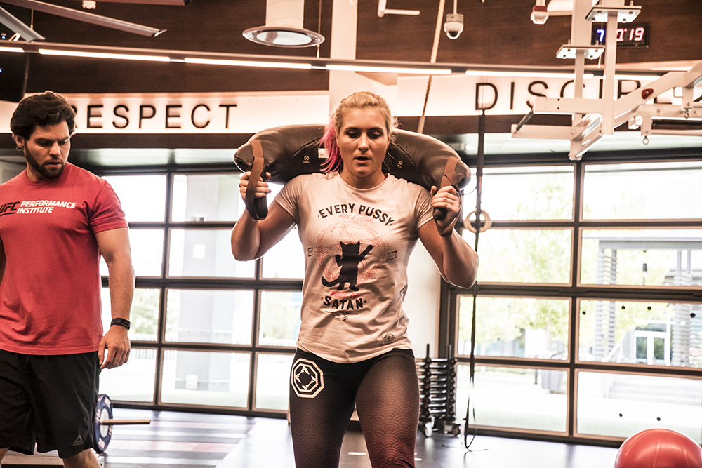 LAS VEGAS, 7/12/18 - UFC fighter Yana Kunitskaya at the UFC Perfomance Institute. (Photo credit: Juan Cardenas)