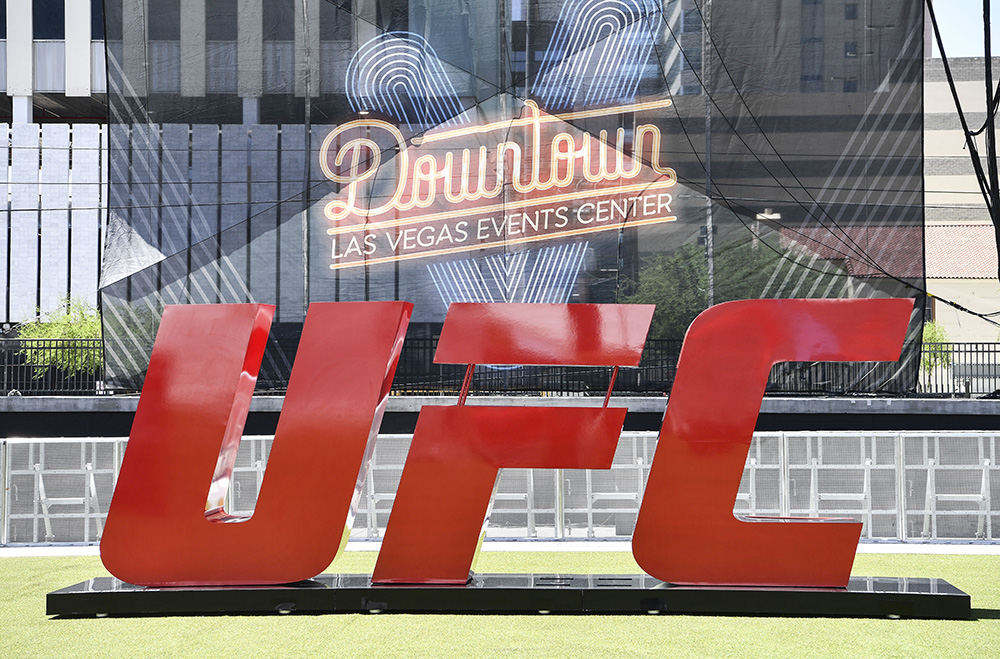 LAS VEGAS, NEVADA - JULY 06: A general view of the UFC letters during the UFC Fan Experience at the Downtown Las Vegas Events Center on July 6, 2018 in Las Vegas, Nevada. (Photo by Brandon Magnus/Zuffa LLC/Zuffa LLC via Getty Images)