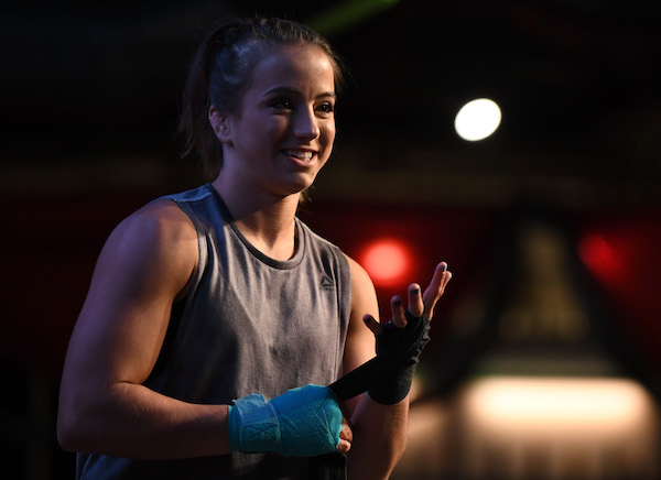 DENVER, CO - NOVEMBER 07: Maycee Barber holds an open workout for fans and media on November 7, 2018 in Denver, Colorado. (Photo by Josh Hedges/Zuffa LLC via Getty Images)