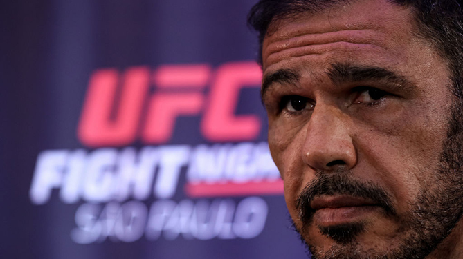 SAO PAULO, BRAZIL - SEPTEMBER 20: UFC men's light heavyweigh contender Antonio Rogerio Nogueira of Brazil interacts with media during the <a href='../event/UFC-Silva-vs-Irvin'>UFC Fight Night </a><a href='../event/Ultimate-Brazil'>ultimate </a>media day at Pestana Hotel on September 20, 2018 in Sao Paulo, Brazil. (Photo by Buda Mendes/Zuffa LLC via Getty Images)