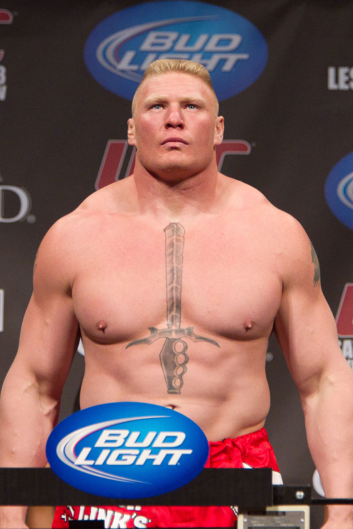 brock 2 Brock lesnar: bio glory to the conqueror, the beast incarnate, the anomaly or whatever godlike title you choose to bestow upon brock lesnar surely, this creature fits each and every one of them.