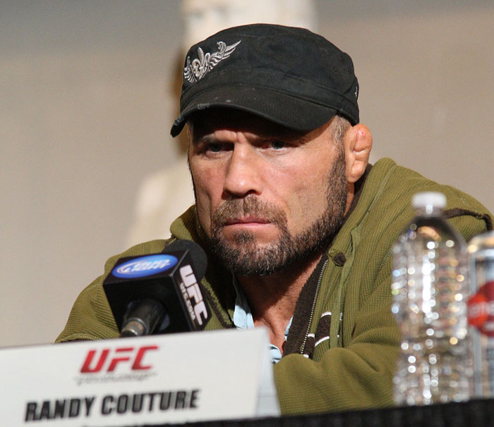 UFC 118 Press Conference: Randy Couture. 