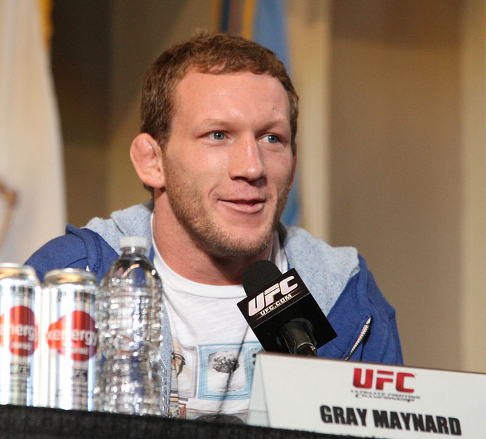 UFC 118 Press Conference: Gray Maynard.  