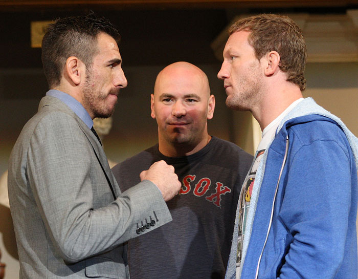 UFC 118 Press Conference: Kenny Florian vs. Gray Maynard. 