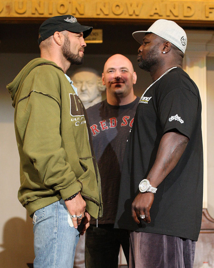 UFC 118 Press Conference: Randy Couture vs. James Toney.