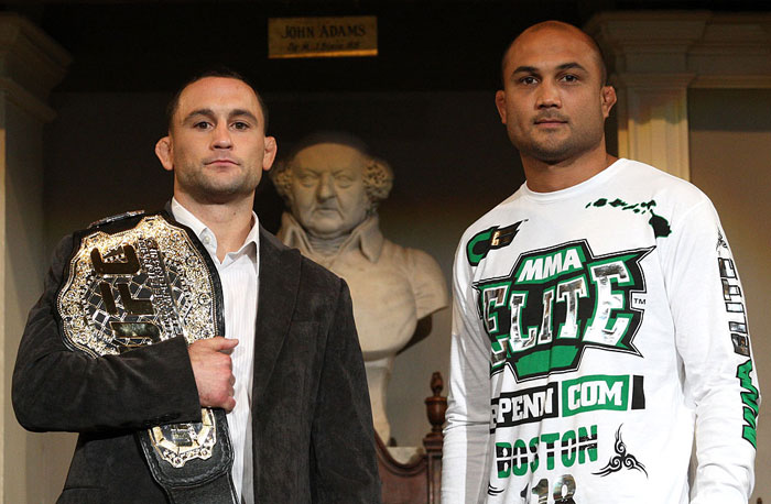 UFC 118 Press Conference: Frankie Edgar vs. BJ Penn.