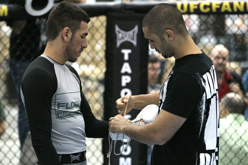 UFC118: Aug. 26th Boston, MA. Kenny Florian at open workouts. (Photo by Josh Hedges/Zuffa LLC via Getty Images)