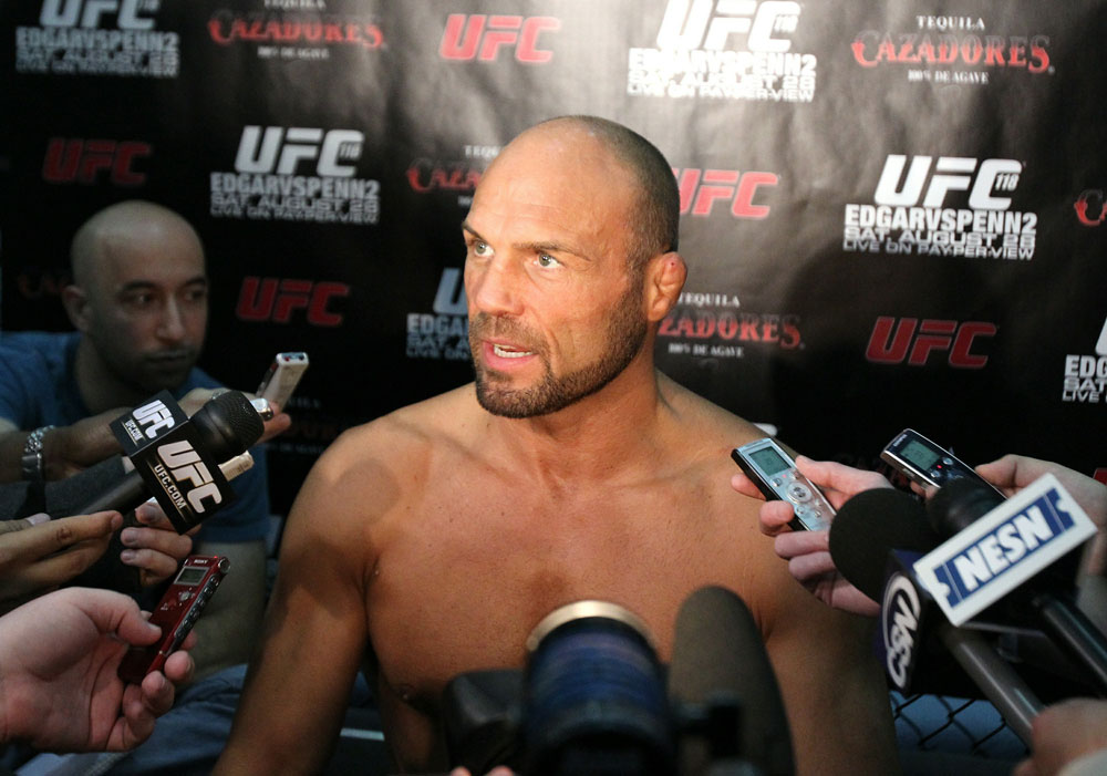 UFC118: Aug. 26th Boston, MA. Randy Couture at open workouts. (Photo by Josh Hedges/Zuffa LLC via Getty Images)