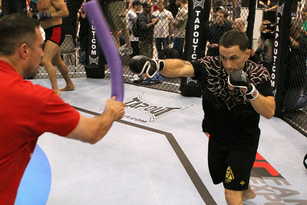UFC118: Aug. 26th Boston, MA. Frankie Edgar at open workouts. (Photo by Josh Hedges/Zuffa LLC via Get