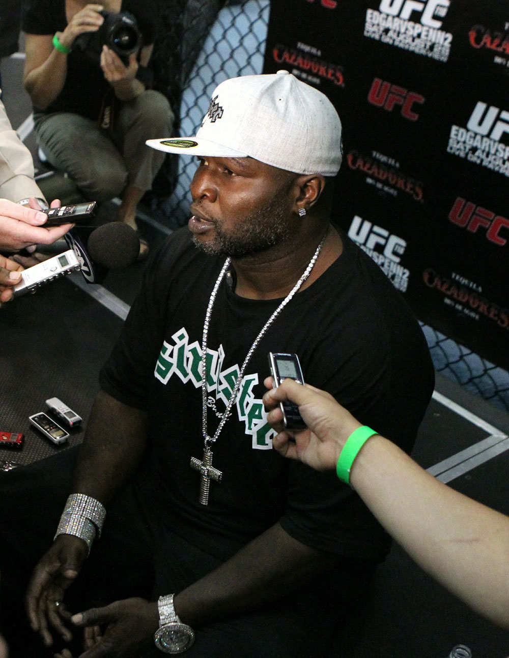 UFC118: Aug. 26th Boston, MA. James Toney at open workouts. (Photo by Josh Hedges/Zuffa LLC via Getty Images)