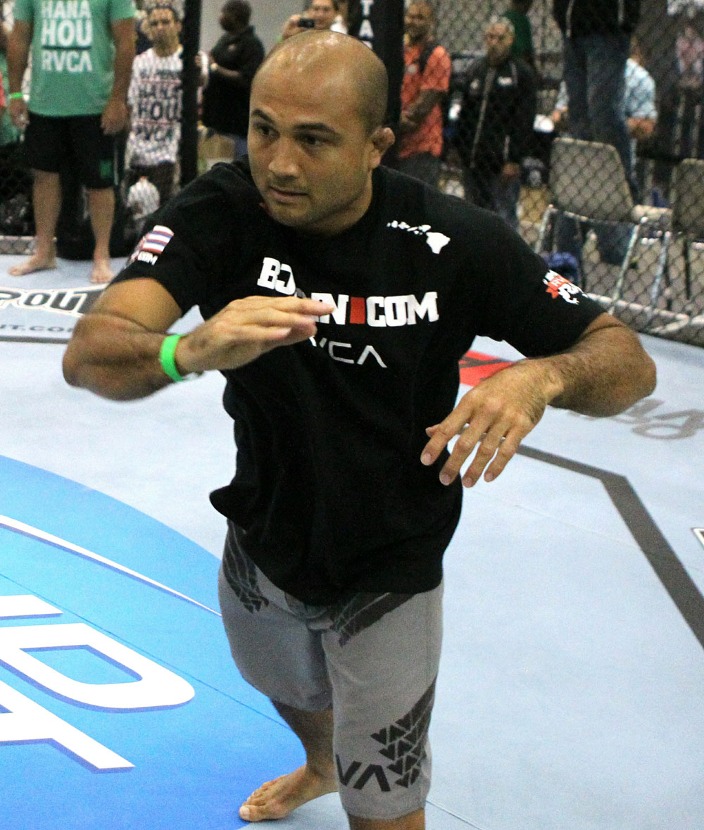 UFC118: Aug. 26th Boston, MA. BJ Penn at open workouts. (Photo by Josh Hedges/Zuffa LLC via Getty Images)
