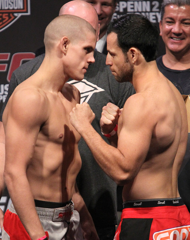 UFC118 weigh-ins Lauzon vs. Ruediger