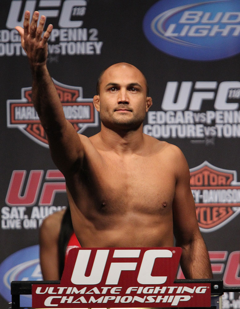 UFC118 weigh-ins BJ Penn