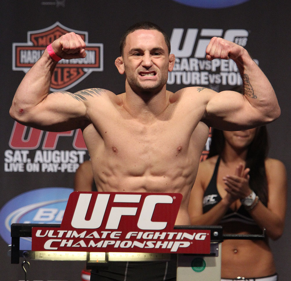 UFC118 weigh-ins Frankie Edgar