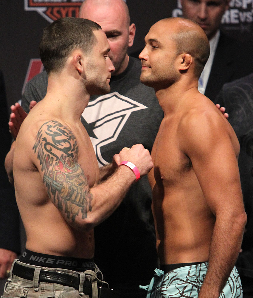 UFC118 weigh-ins Edgar vs. Penn 2
