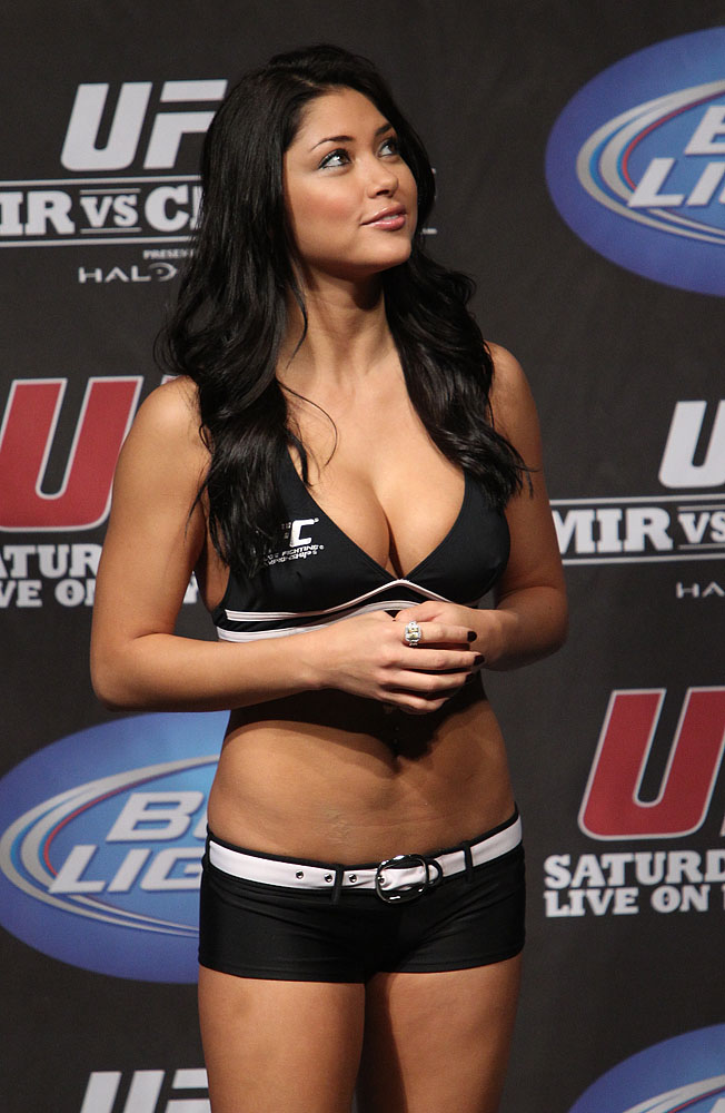Arianny Celeste at the UFC 119 weigh ins