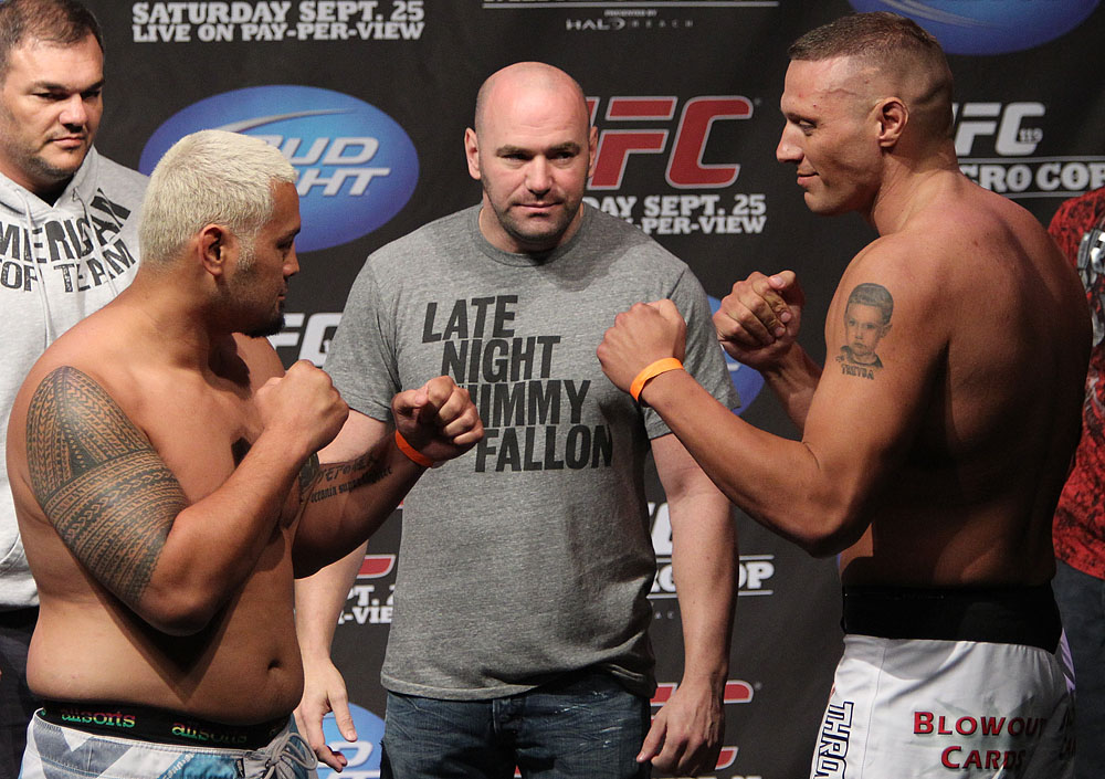 UFC 119 weigh ins: Hunt vs. McCorkle