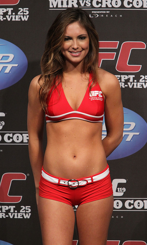 2010 Miss Transworld Surf Brittany Ward at the UFC 119 weigh ins