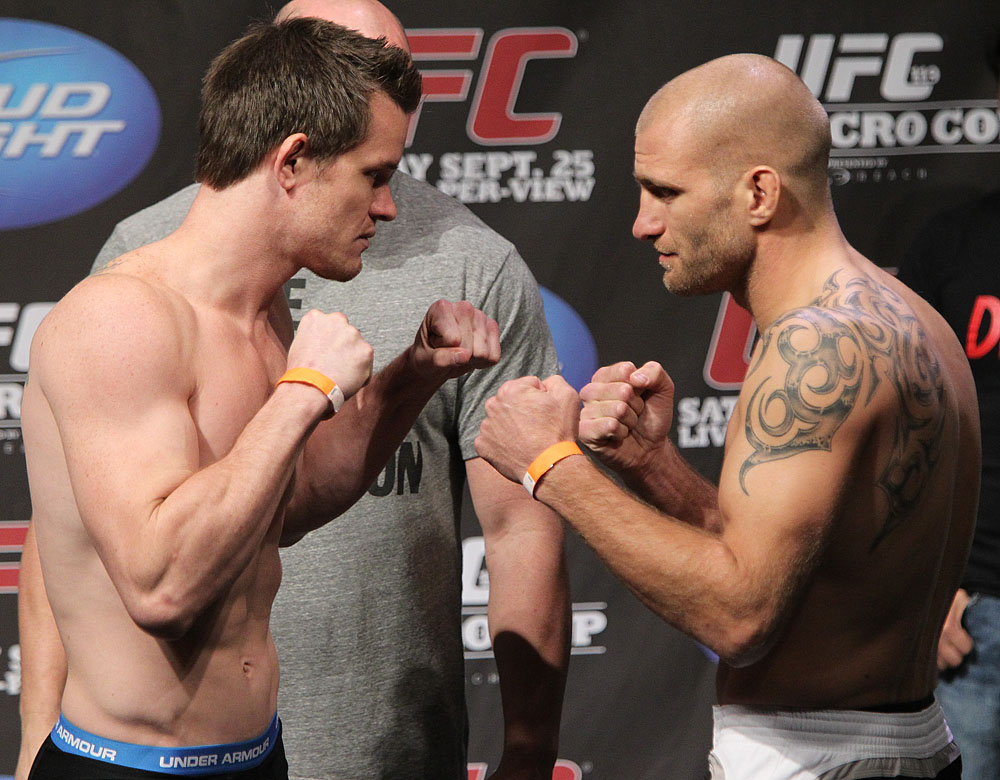 UFC 119 weigh ins: Dollaway vs. Doerksen