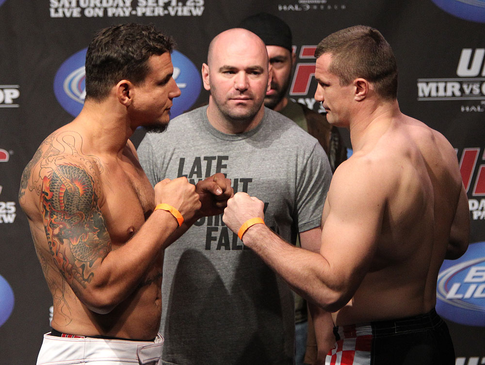 UFC 119 weigh ins: Mir vs. Cro Cop