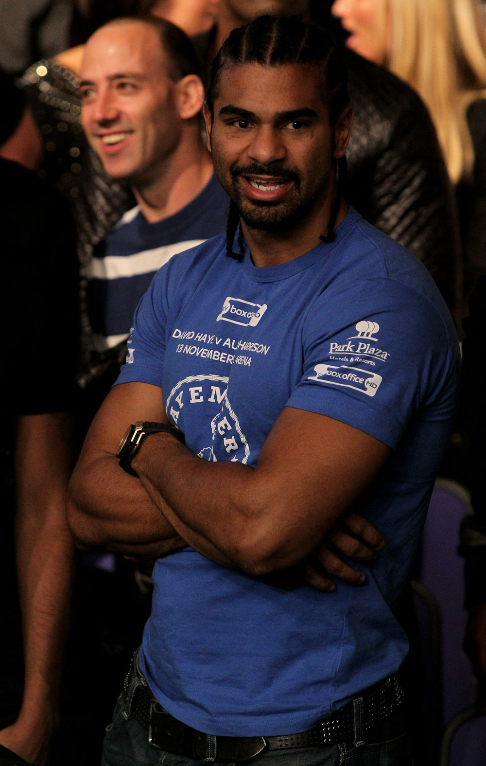 UFC 120: Boxer David Hayes watches the Kongo vs. Browne fight