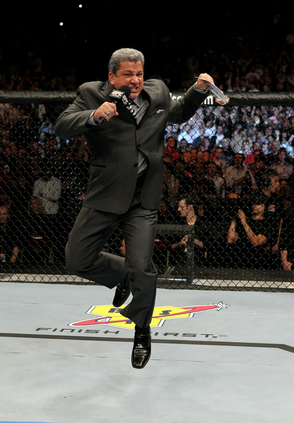 UFC 120: Bruce Buffer announcing the main event.