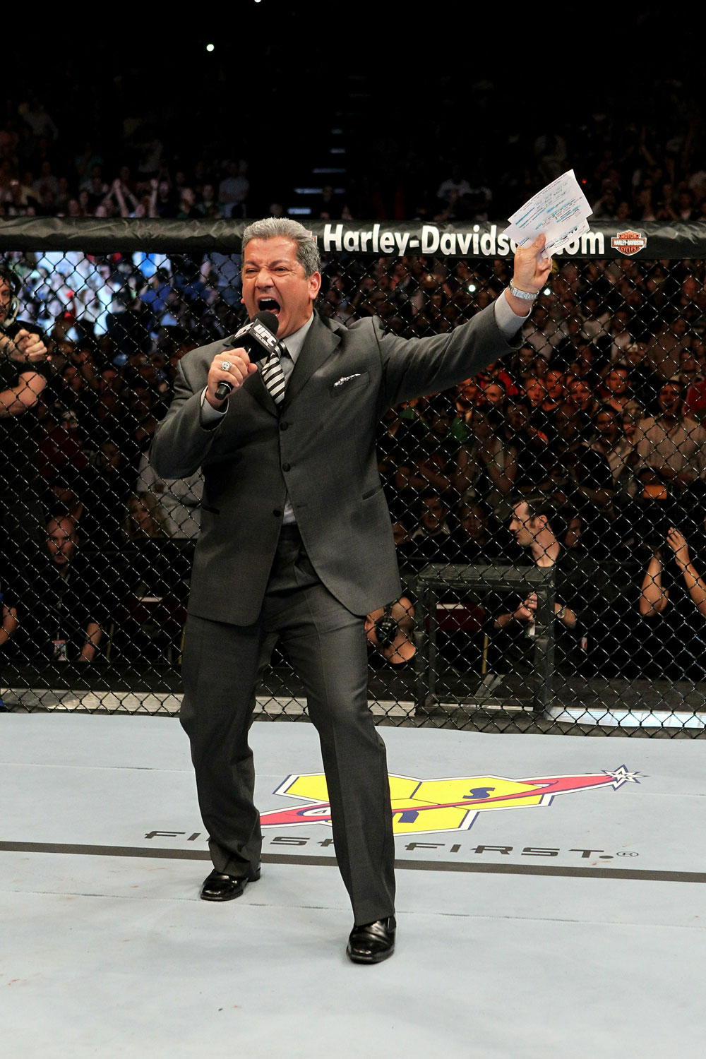 UFC 120 Bruce Buffer announcing the main event.