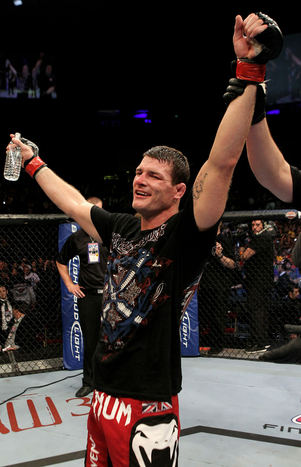 UFC 120: Michael Bisping celebrates his win.