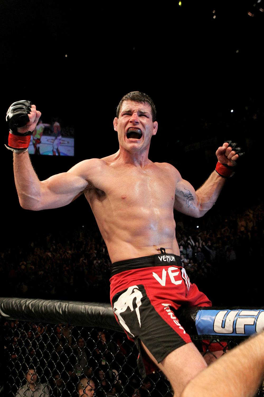 UFC 120: Michael Bisping celebrates