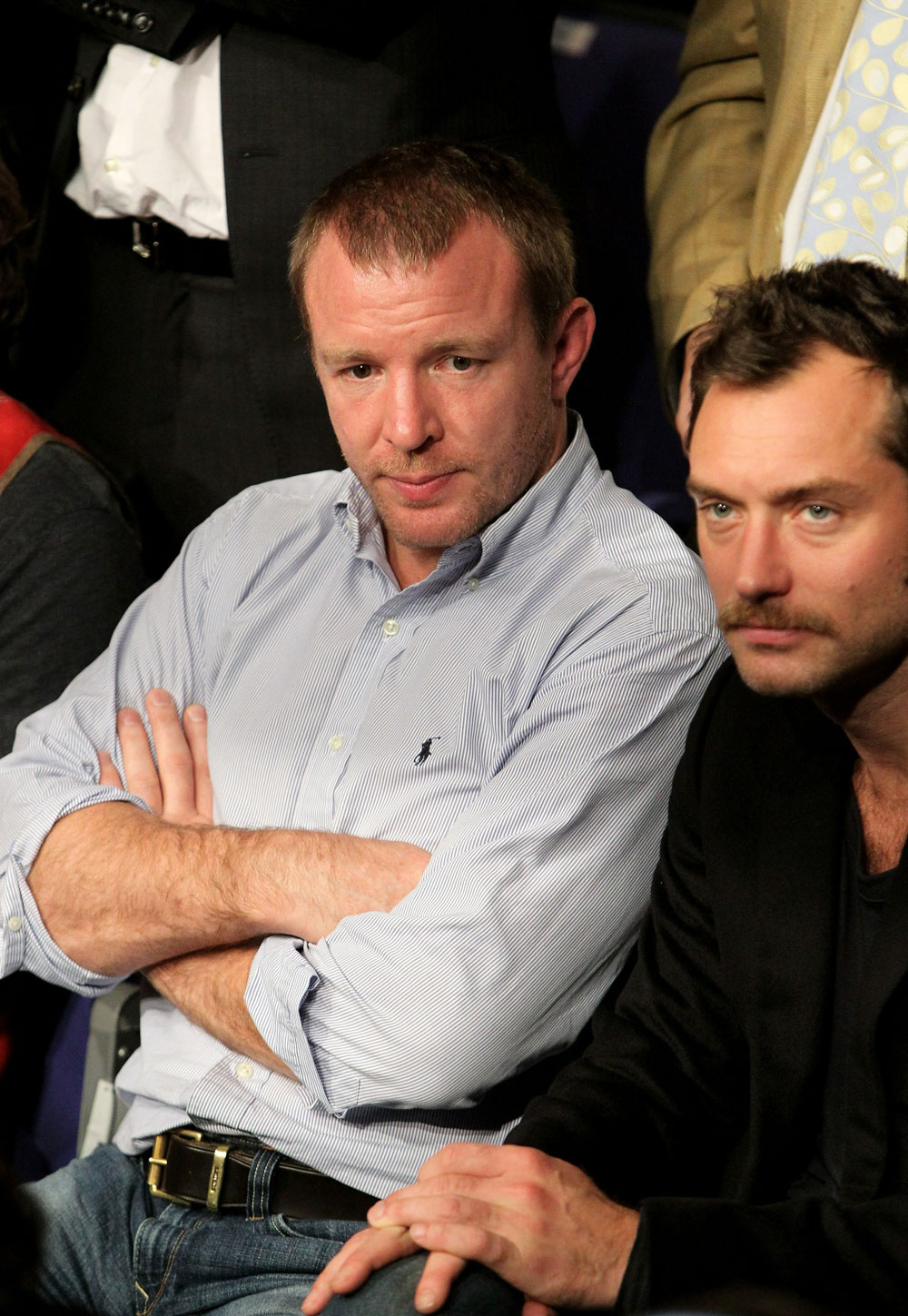 UFC 120: Guy Ritchie (L) and Jude Law(R)