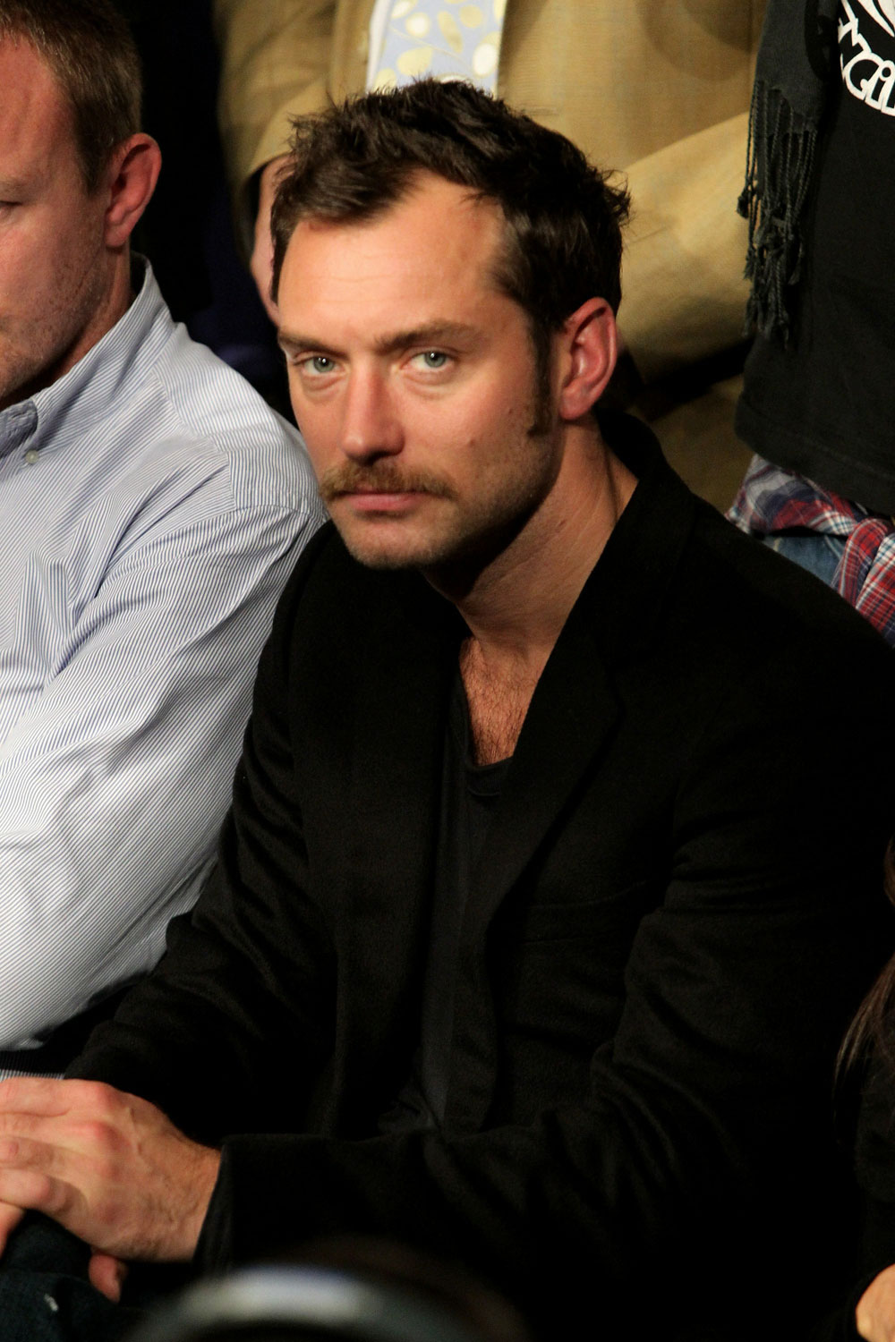 UFC 120: Jude Law watches the fight.
