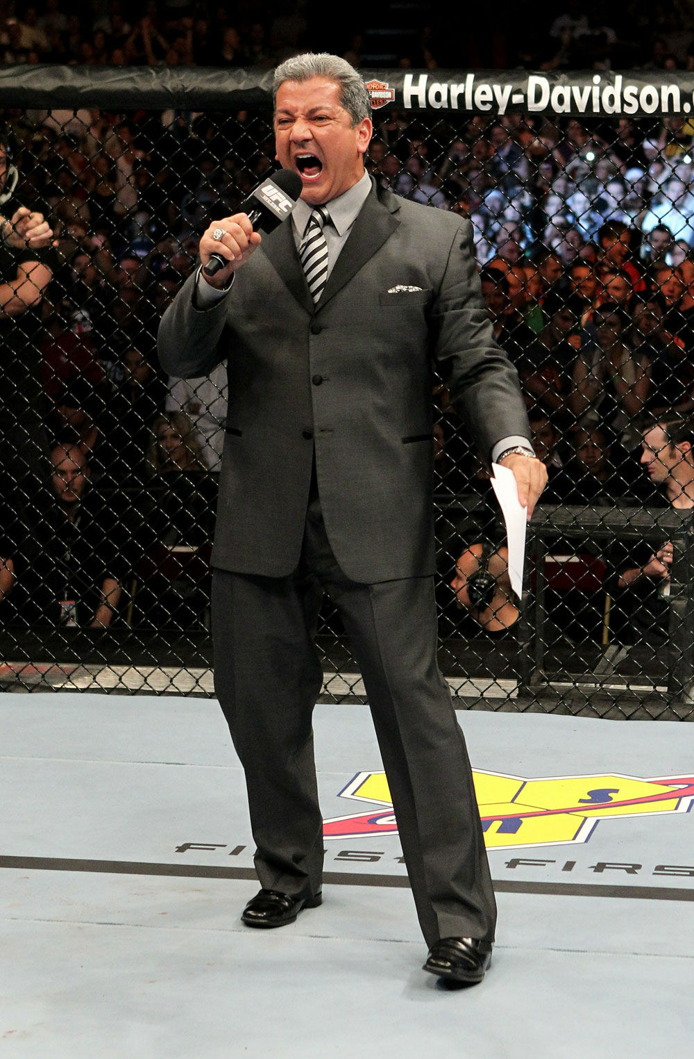 UFC 120: Bruce Buffer announces the main event
