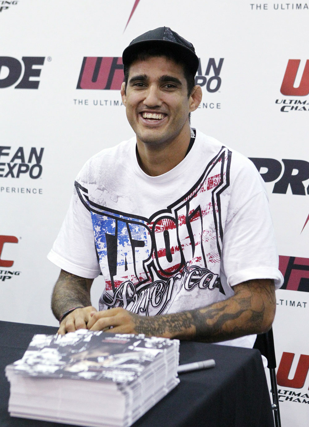 UFC Middleweight fighter Kendall Grove at the UFC Fan Expo London at Earl's Court Arena