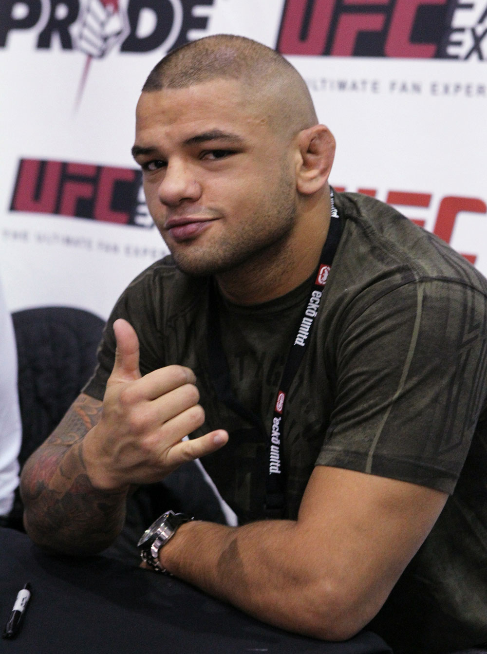 UFC Welterweight fighter Thiago Alves at the UFC Fan Expo London at Earl's Court Arena
