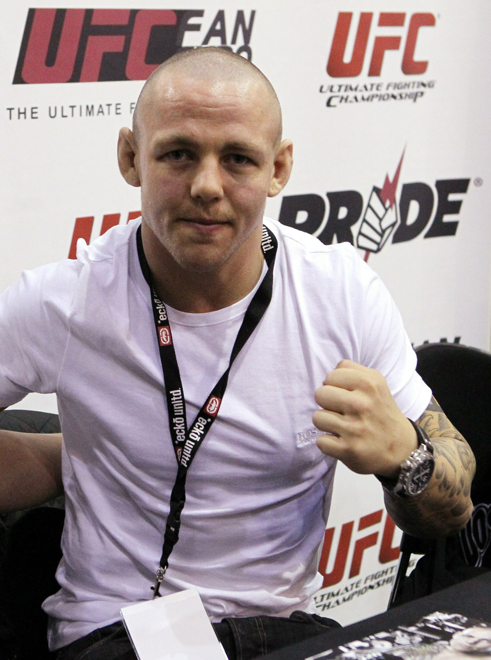 UFC Lightweight fighter Ross Pearson at the UFC Fan Expo.