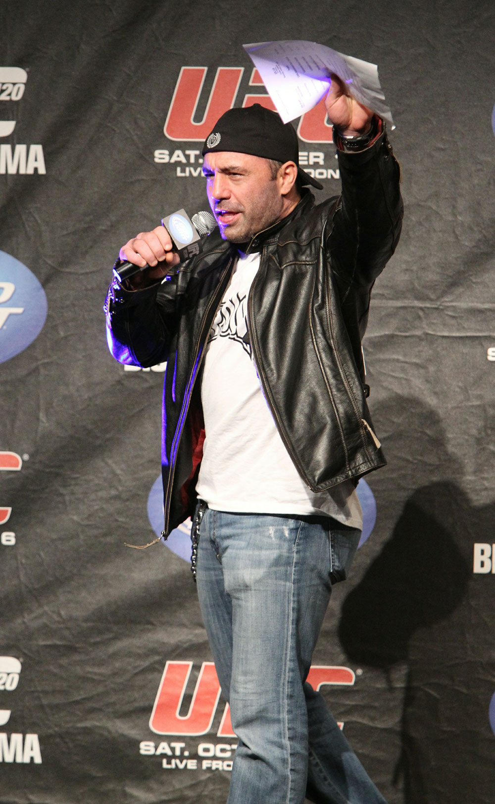 Joe Rogan at the UFC 120 Weigh-Ins in London.