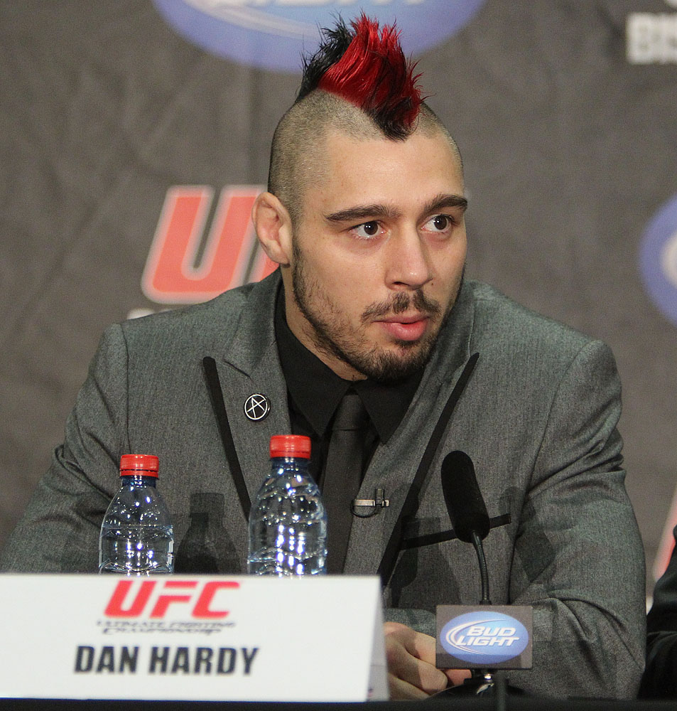 Dany Hardy at the UFC 120 Press Conference