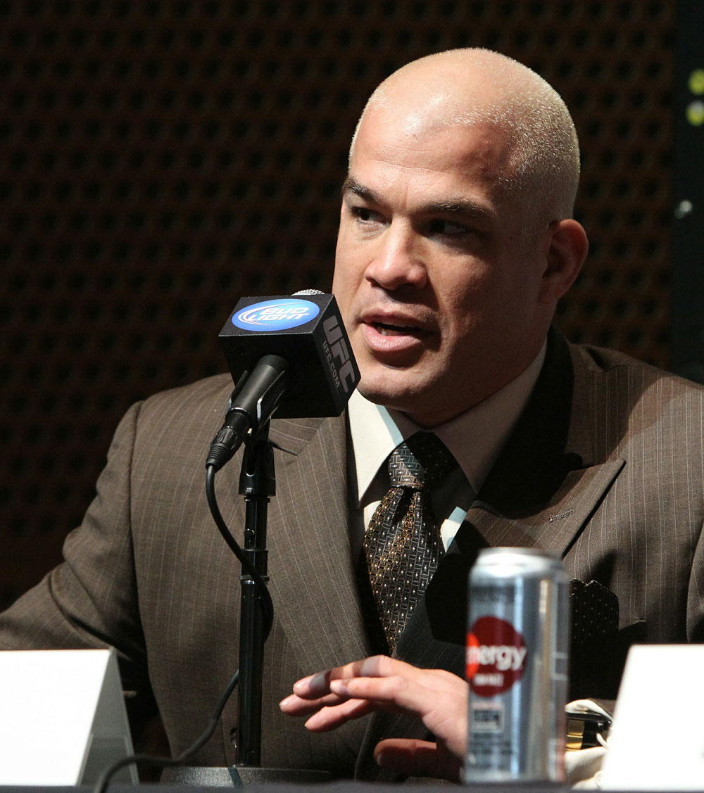 Former light heavyweight champion Tito Ortiz at the UFC 121 pre-fight press conference at the Walt Disney Concert Hall on October, 20 2010 in Los Angeles, California.