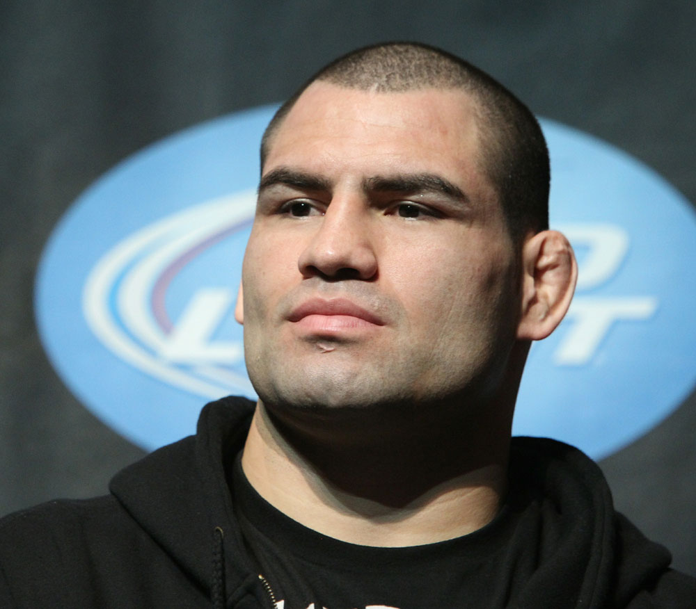 Heavyweight title challenger Cain Velasquez at the UFC 121 pre-fight press conference at the Walt Disney Concert Hall on October, 20 2010 in Los Angeles, California.