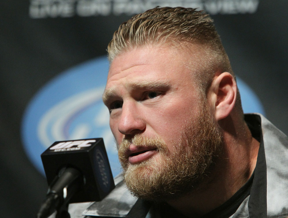 Heavyweight Champion Brock Lesnar at the UFC 121 pre-fight press conference at the Walt Disney Concert Hall on October, 20 2010 in Los Angeles, California.
