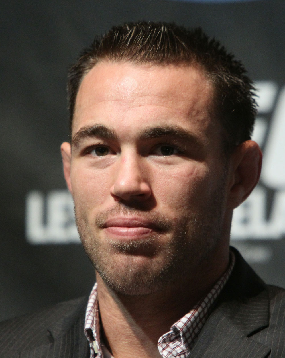 Welterweight fighter Jake Shields at the UFC 121 pre-fight press conference at the Walt Disney Concert Hall on October, 20 2010 in Los Angeles, California.