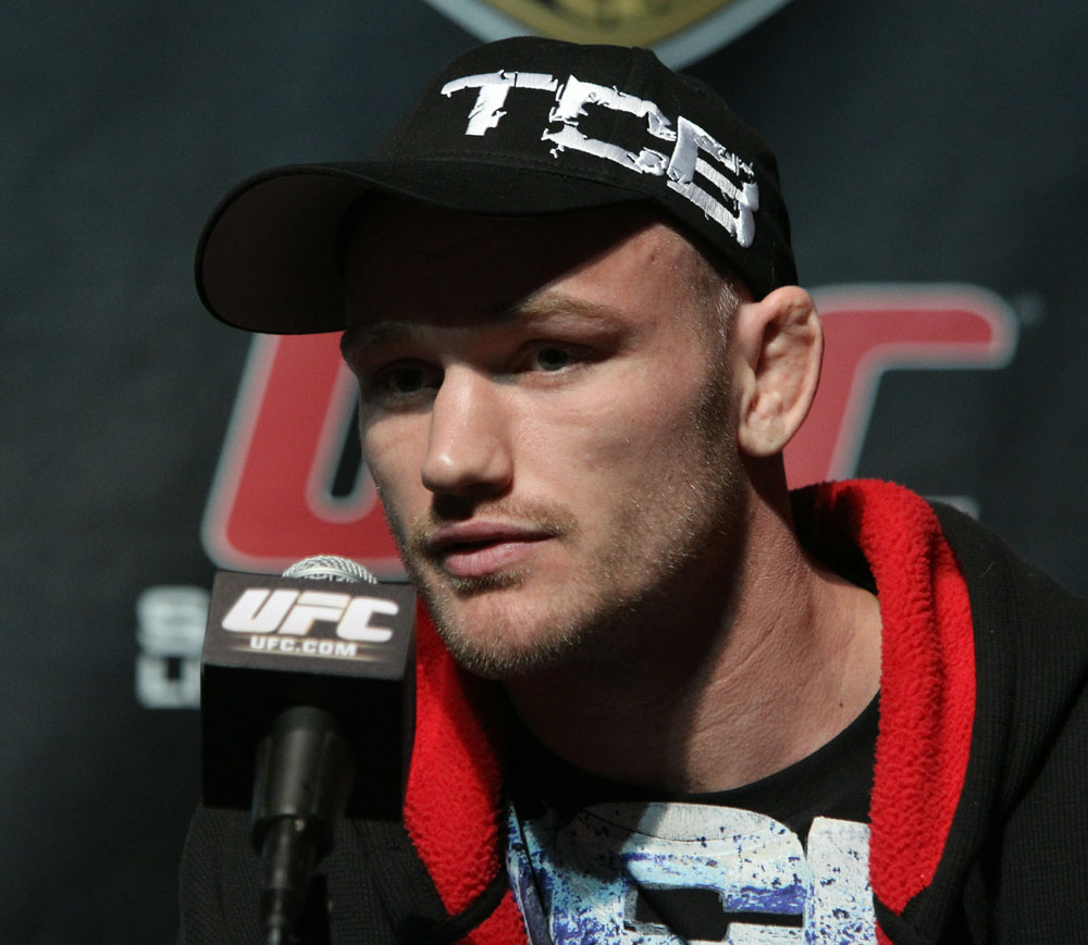 Welterweight fighter Martin Kampmann at the UFC 121 pre-fight press conference at the Walt Disney Concert Hall on October, 20 2010 in Los Angeles, California.