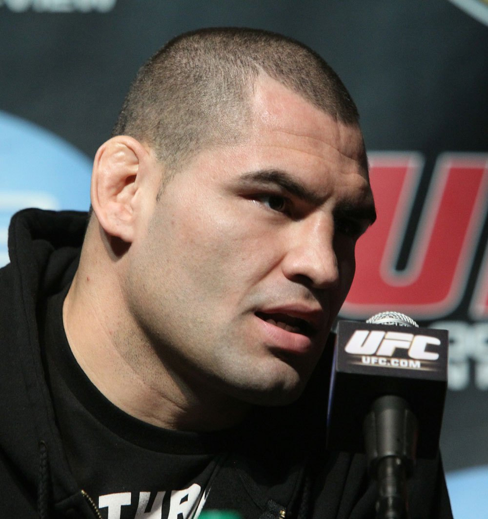 UFC Heavyweight title challenger Cain Velasquez at the UFC 121 pre-fight press conference at the Walt Disney Concert Hall on October, 20 2010 in Los Angeles, California.