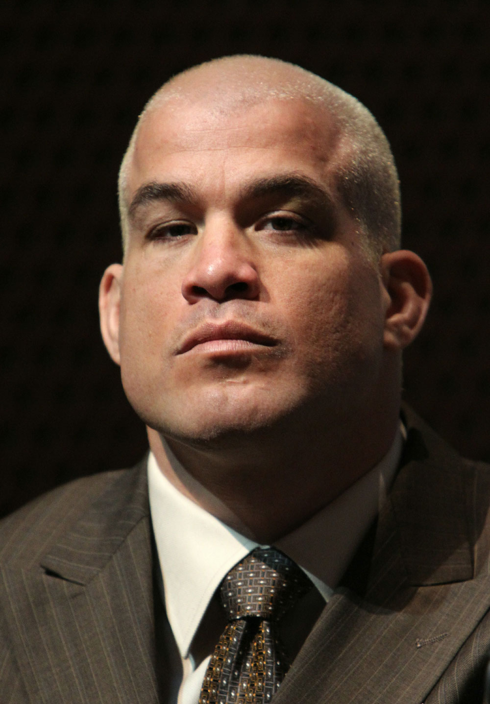 Former UFC Light Heavyweight Champion Tito Ortiz at the UFC 121 pre-fight press conference at the Walt Disney Concert Hall on October, 20 2010 in Los Angeles, California.