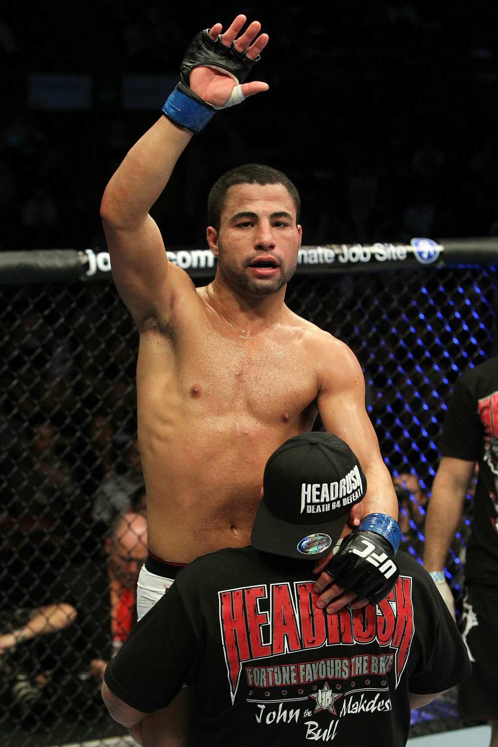 UFC 124: John Makdessi celebrates his win over