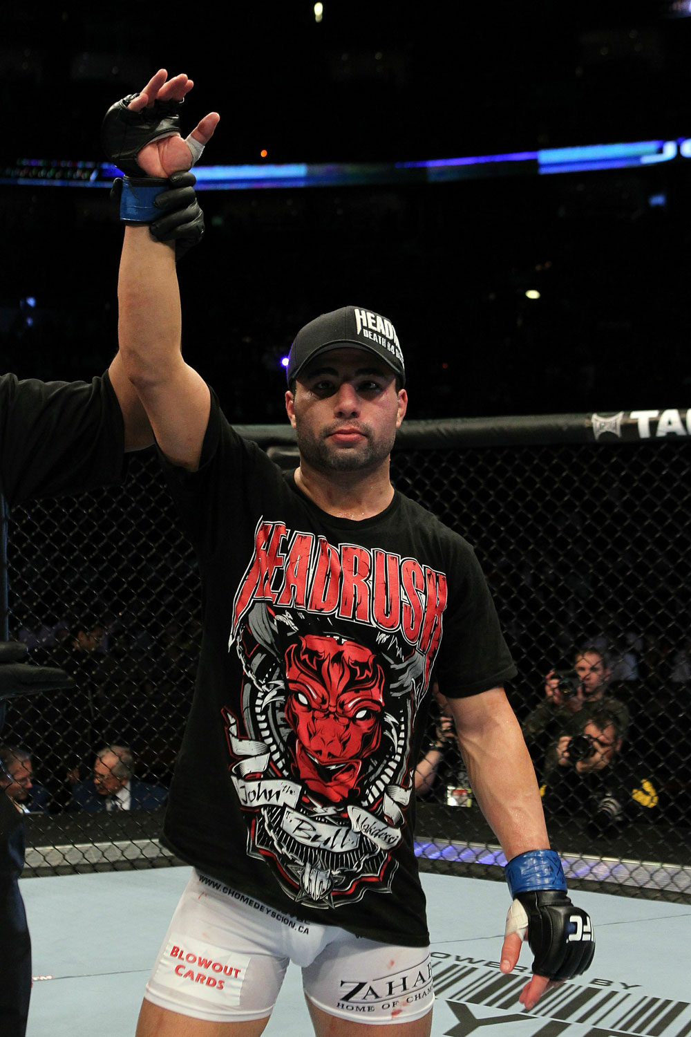 UFC 124: John Makdessi celebrates his win